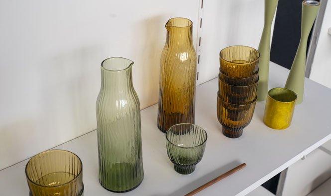 Amnis glas brons groen