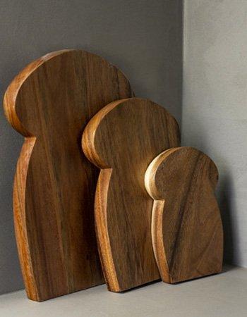 P mushroom cuttingboards set
