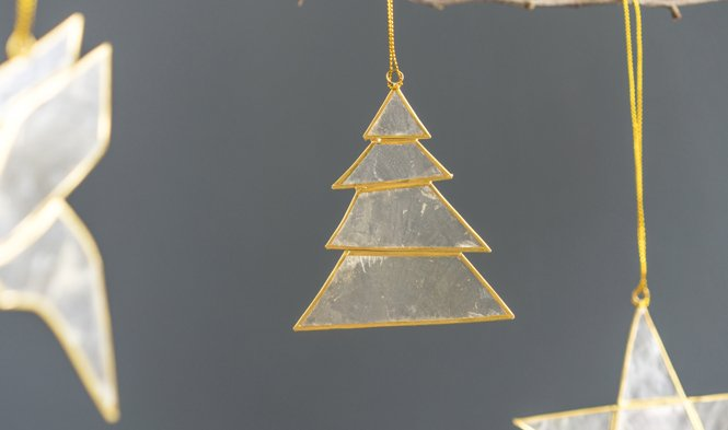 kersthanger boom goud capzi