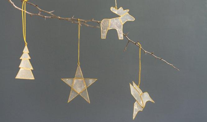 kersthanger goud capiz