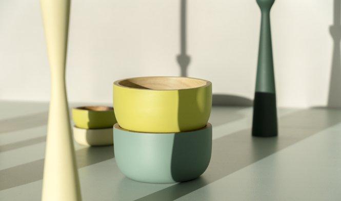 gekleurde schalen modern design