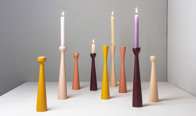 candle holders process earth