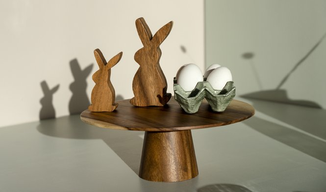 paashaas hout decoratie modern