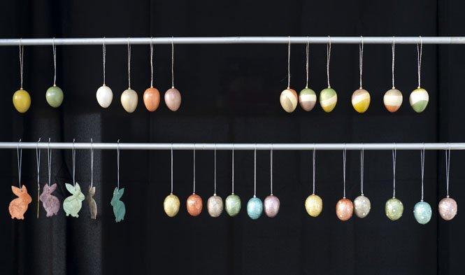 easter eggs decoration pastel