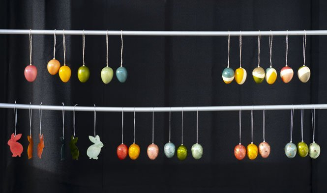 easter decoration colored mix
