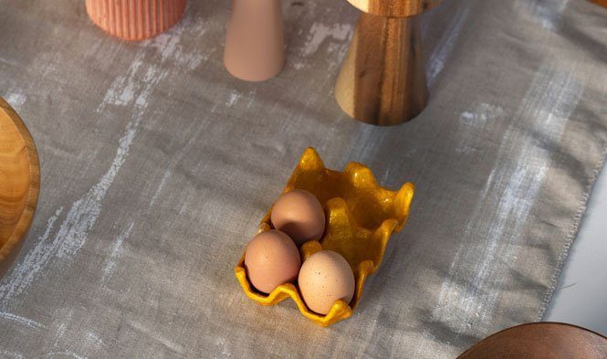egg tray pumpkin capiz