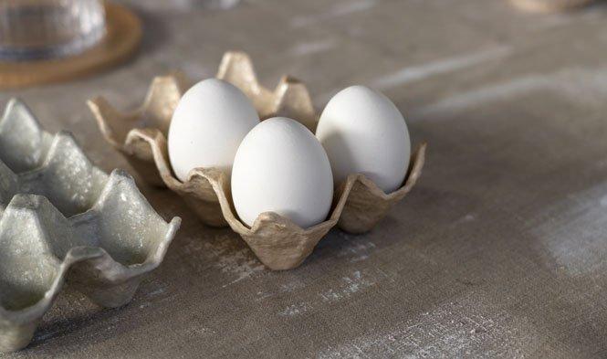 egg trays capiz beige