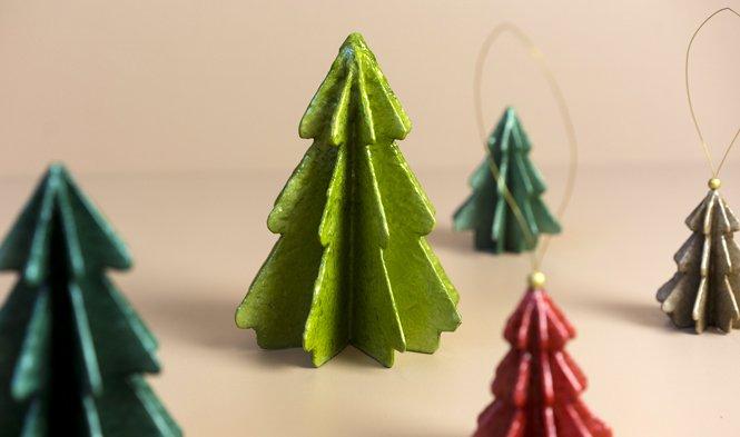 kerstboom decoratie capiz pulp