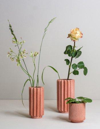 folded vases rosy