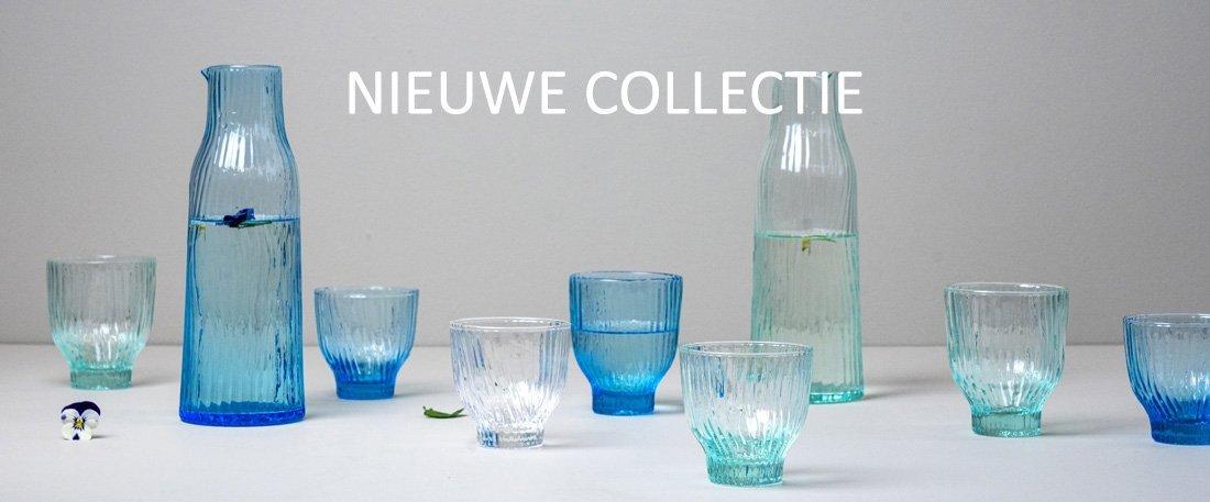 drinkglas karaf blauw