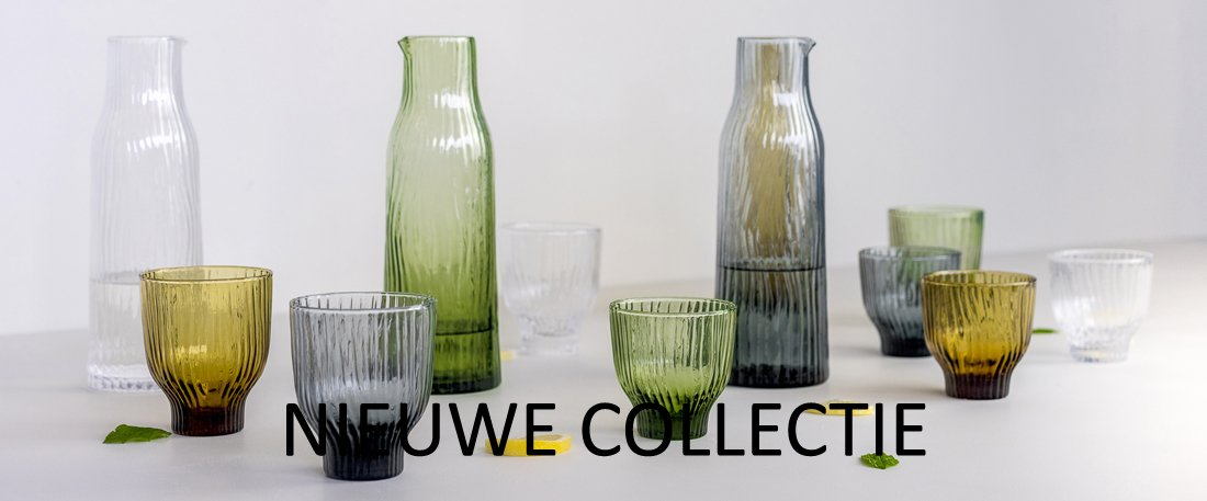 drinkglas en karaf met patroon design