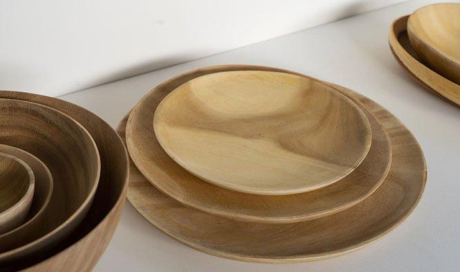 gmelina wood plates thin