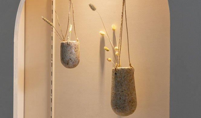 hangende vazen wood pulp