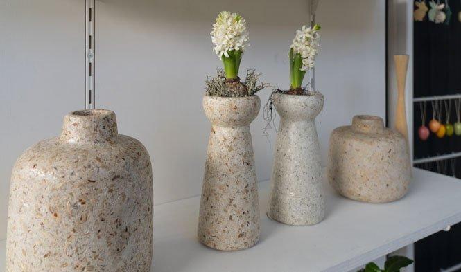 hyacint vaas recycled materiaal