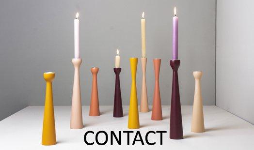 kandelaars gekleurd hout modern