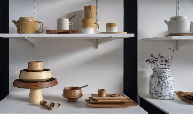 mushroom schalen stoneware mustard