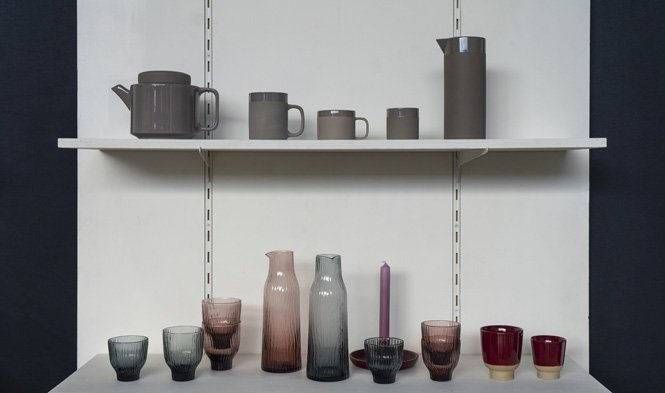 keramiek grijs glas handgemaakt