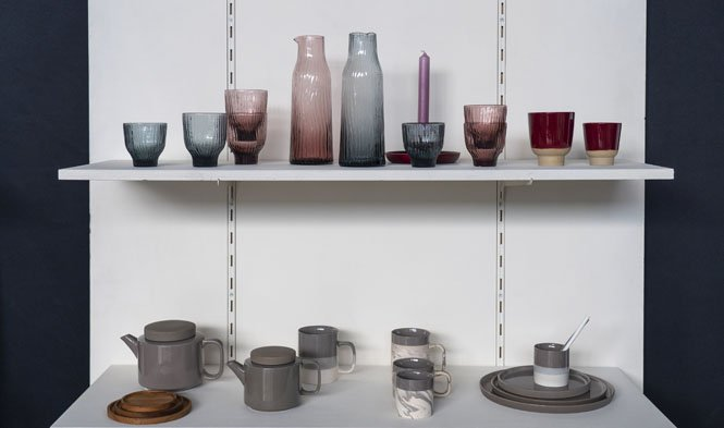stoneware grey tumblers rosy