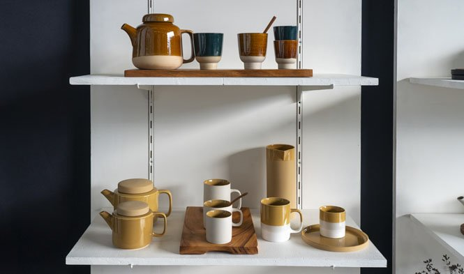 stoneware mustard cyl collection