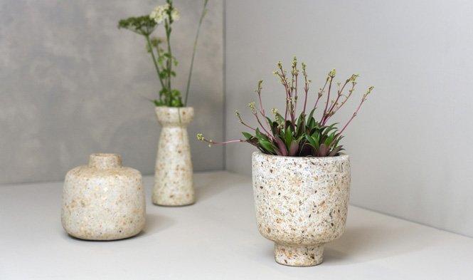 wood pulp flowerpot