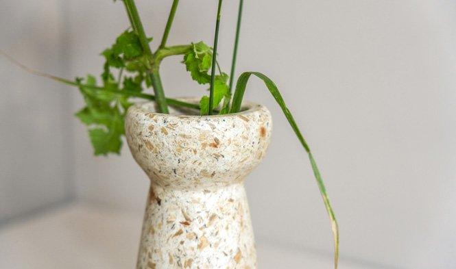 wood pulp hyacint vaas